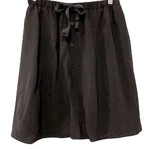 PINK MARTINI Black Button Down Skirt Size Small